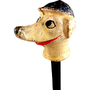 Dog with Blue Cap Carnival Cane