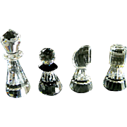 Swarovski Crystal Complete Chess Set   ***Game of Kings***