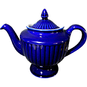 "Vintage Cobalt Blue Hall ""Los Angeles"" 6 Cup Teapot Tea Pot"