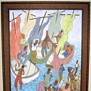 Caribbean Oil Painting by Reynald Joseph