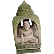 Pair of South East Asian Carved Stone Pagoda Temple Sculptures