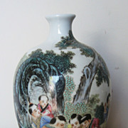 Chinese Republic Period Famille Rose Meiping Vase