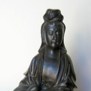 19th C. Chinese Bronze Seated Guanyin