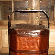 Chinese Octagonal Woven Wedding Basket