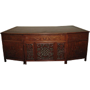 Chinese Yellow Rosewood Fan Shaped Desk