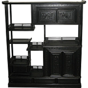 Japanese Rosewood Tea Chest-Curio Stand