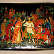 Russian Rectangular Lacquer Box