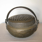 Antique Chinese Bronze Handwarmer