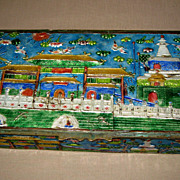 Old Chinese Enamel Rectangular Box
