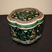 19th Century Chinese Famille Noir Box