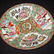 Chinese Porcelain Mandarin Rose Plate