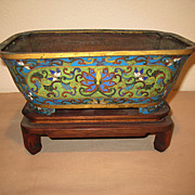 Antique Chinese Cloisonné Censor