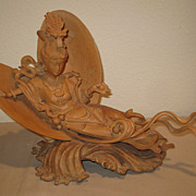 Chinese Boxwood Goddess