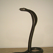 Superb Vintage Bronze Snake Sculpture