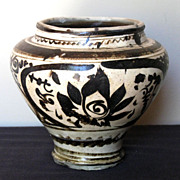 Chinese Cizhou Pottery Covered Jar