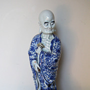 Chinese Porcelain Blue & White Lohan