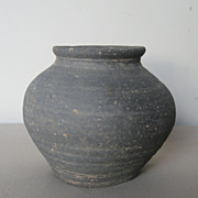 Korean Koro Coiled Pottery Jar