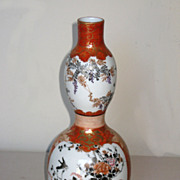 Superb Japanese Kutani Double Gourd Porcelain Vase
