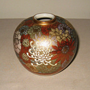 Japanese Antique Ceramic Satsuma Vase