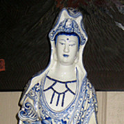 Chinese Blue & White Porcelain Guanyin