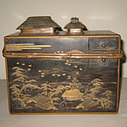 Antique Japanese Lacquer Tobacco Box