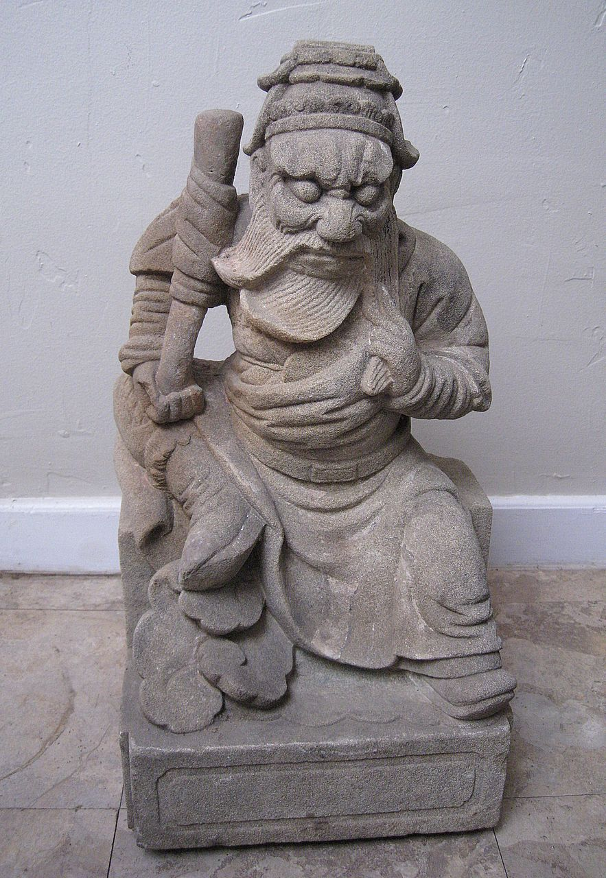 Antique chinese carved stone sage from dynastycollections