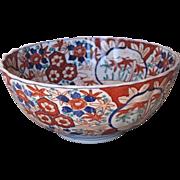 Japanese Porcelain Imari Fluted Bowl