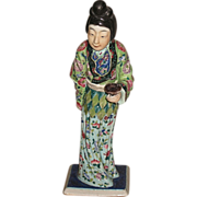 Chinese Porcelain Famille Rose Lady
