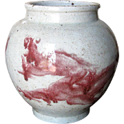 Chinese Vintage Porcelain Dragon Jar