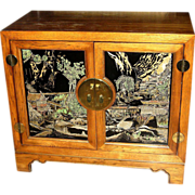Chinese Low Yellow Rosewood Cabinet