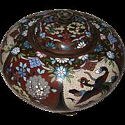 Antique Japanese Cloisonné Covered Jar