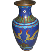 Antique Chinese Cloisonné Dragon Vase