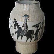 Vintage Asian Style Porcelain Vase
