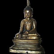 Chinese Antique Sino-Tibetan Gilt-Bronze Buddha