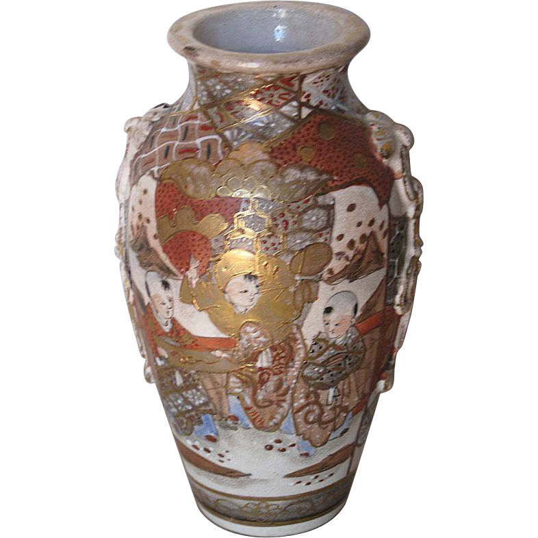 Antique Japanese Satsuma Vase Dynasty Collections Amp Antiques Ruby Lane