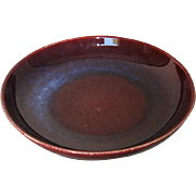Chinese Large Porcelain Flambé Low Bowl