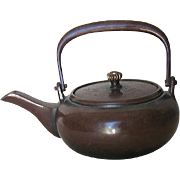 Early Showa Japanese Bronze Tea Pot