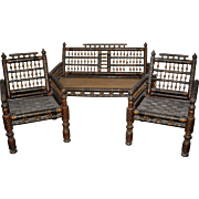 Vintage 3 Pc. Set Moroccan Settee and Two Chairs