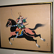 Japanese Painting of a Samurai Warrior