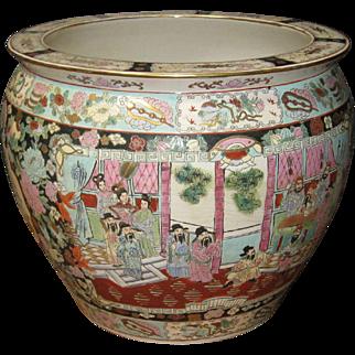 Vintage Chinese Porcelain Fish Bowl