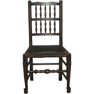 Surperb Antique Early American Side Chair with Cane Seat
