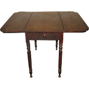 Antique American Pembroke Wood Drop-Leaf Table