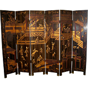 Chinese 6-Panel Coromandel Screen of a Palace Scene