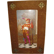 European Painted Plaque of a Solider