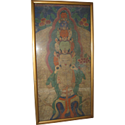18th Century Sino-Tibetan Painting on Cloth  of Sahasrabhuja Lokeshvara