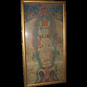 18th Century Sino-Tibetan Painting on Cloth  of Sahasrabhuja Lokeshvara