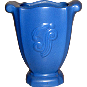 Vintage Red Wing Blue Vase #951