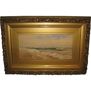 """Seascape"", Painting Attributed to Ruth Wilcox"