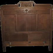 Antique Victorian Oak Bed