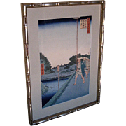 "Woodblock print by Andō Hiroshige ""100 Views of Edo"""